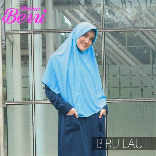 Jilbab Hijab Alsa Khimar Berri - Biru Laut