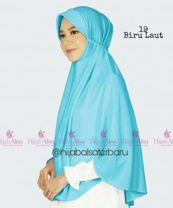 Jilbab Hijab Alsa Bergo Kalila - Biru Laut