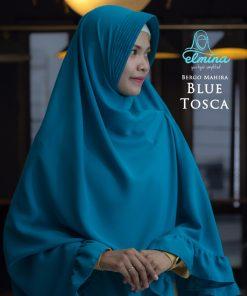 Jilbab Elmina Bergo Mahira Blue Tosca
