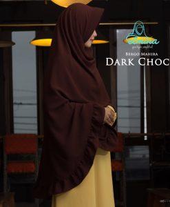 Jilbab Elmina Bergo Mahira Dark Choco