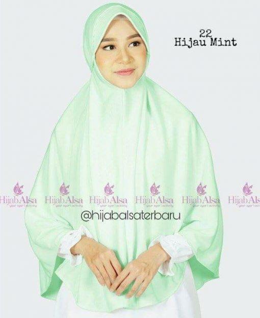 Jilbab Hijab Alsa Bergo Kalila - Hijau Mint