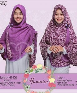 Jilbab Pricilla Bolak-Balik Humaira - Violet