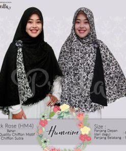Jilbab Pricilla Bolak-Balik Humaira - Black Rose