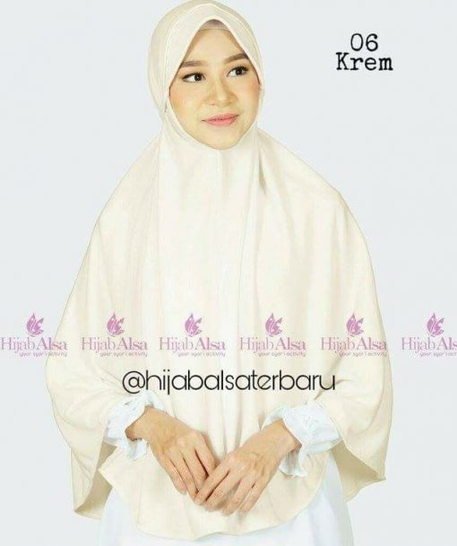 Jilbab Hijab Alsa Bergo Kalila - Krem