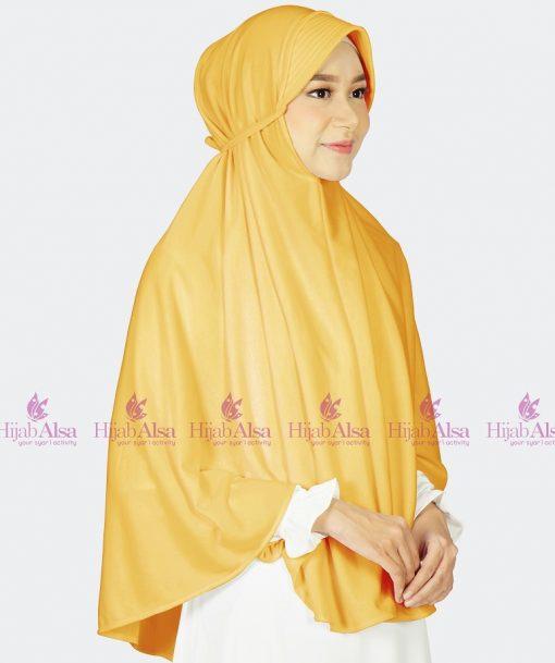 Jilbab Alsa Bergo Kalila -Kuning Emas