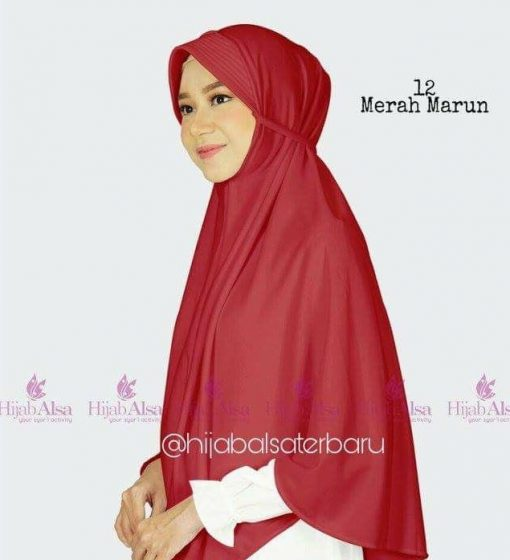 Jilbab Alsa Bergo Kalila - Maroon