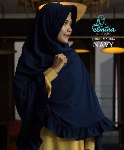 Jilbab Elmina Bego Mahira Navy