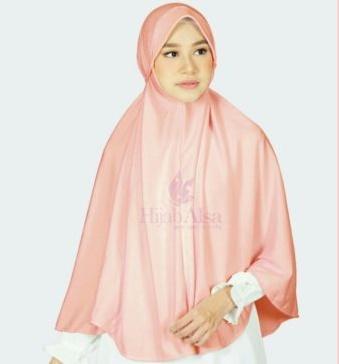 Jilbab Hijab Alsa Bergo Kalila - Peach