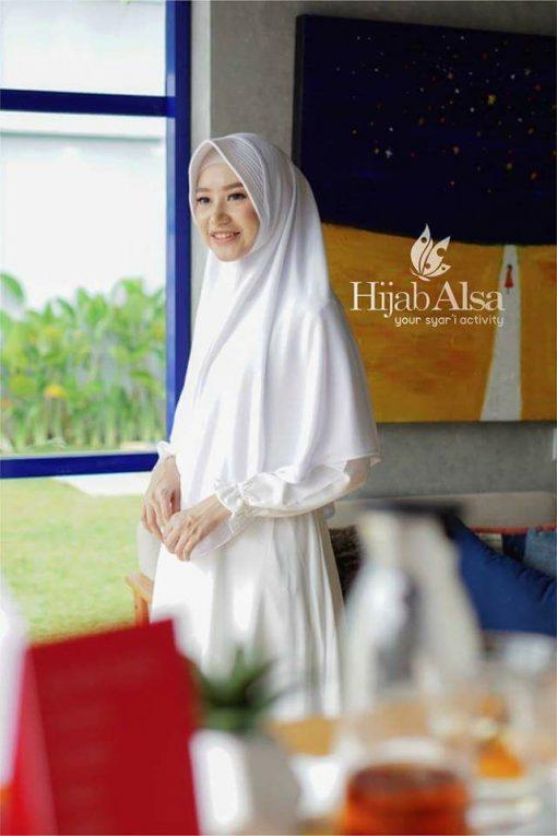 Jilbab Hijab Alsa Khimar Berri - Putih