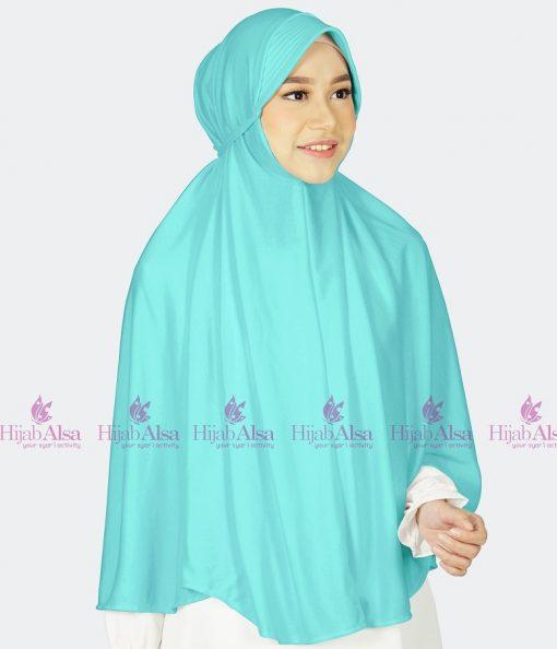 Jilbab Hijab Alsa Bergo Kalila - Toska Muda