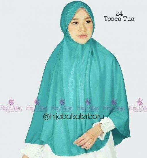 Jilbab Hijab Alsa Bergo Kalila - Tosca Tua