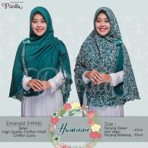 Jilbab Pricilla Bolak-Balik Humaira Emerald