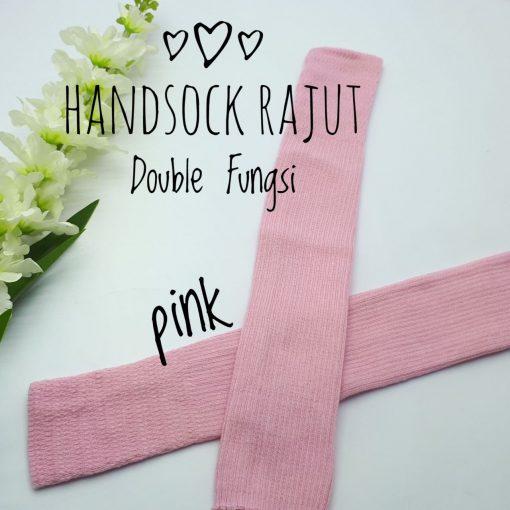 Handsock Jempol Rajut Naureen Baby Pink