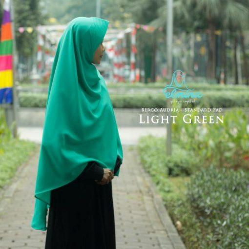 Jilbab Elmina Bergo Audria Standart Pad Light Green