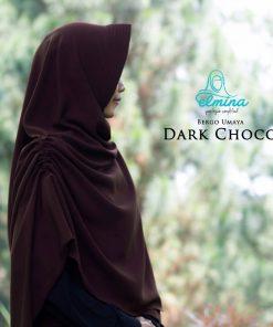 Jilbab Elmina Bergo Umaya Dark Choco