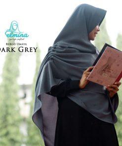 Jilbab Elmina Bergo Umaya Dark Grey