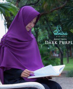 Jilbab Elmina Bergo Umaya Dark Purple