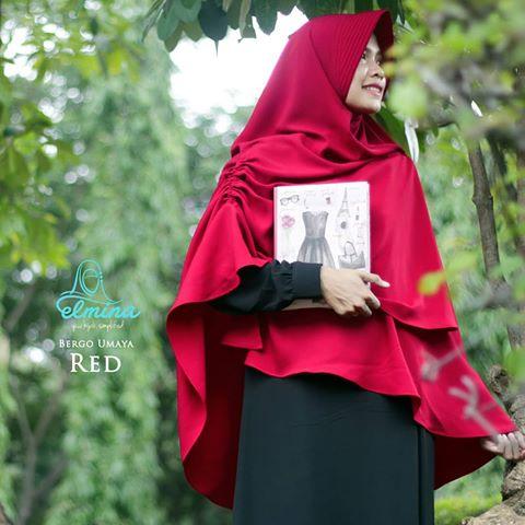 Jilbab Elmina Bergo Umaya - Red