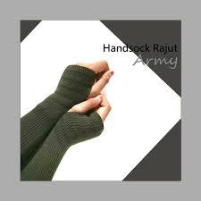 Handsock Rajut Naureen Hijau Army