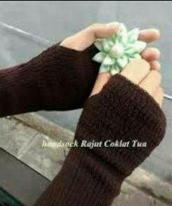 Handsock Rajut Naureen Coklat Tua