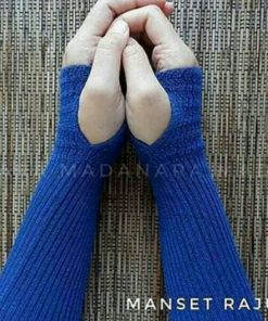 Handsock Rajut Naureen Biru Denim