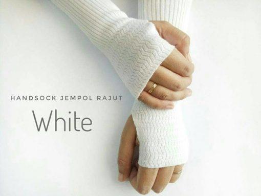 Handsock Rajut Naureen Putih