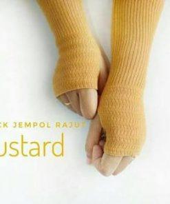 Handsock Rajut Naureen Mustard