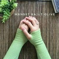 Handsock Rajut Naureen Hijau Olive
