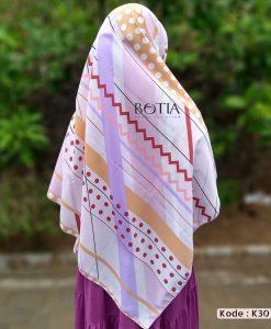 Jilbab Botia Motif K30 Purple